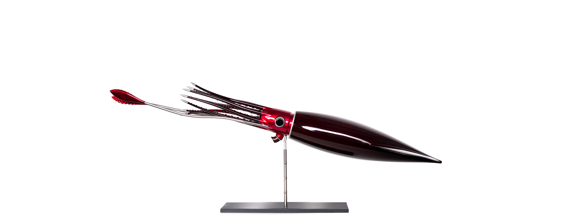 Red Carbon Fibre Humboldt Squid