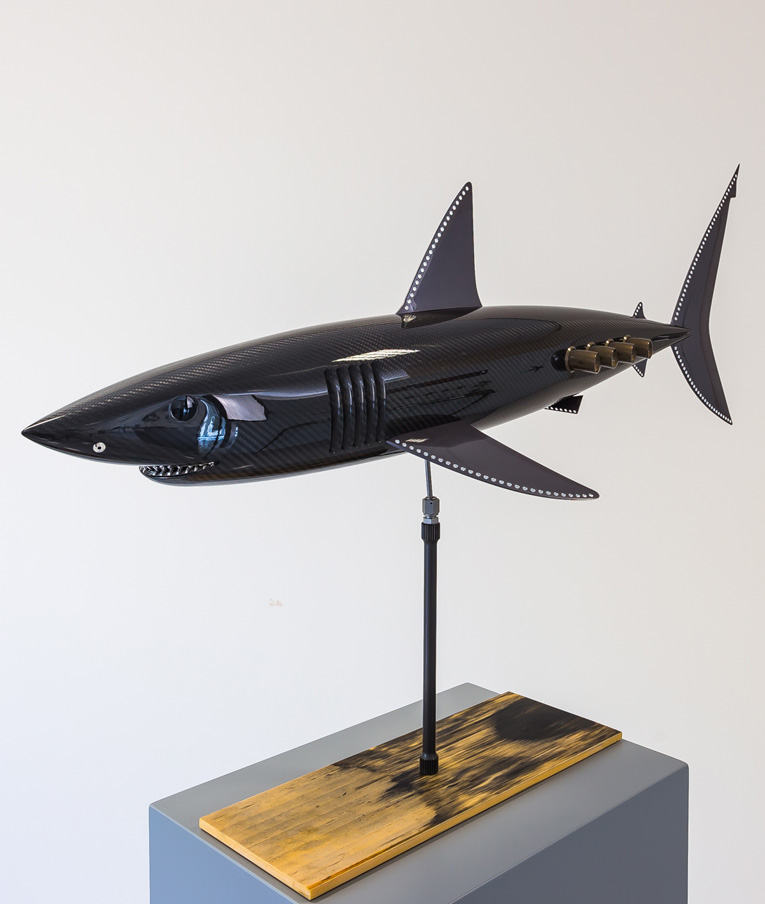 Carbon fibre Mako Shark on F1 Plank
